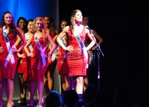 MIss England 2014 on stage